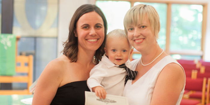 Lauren (left), Michelle, and their son Luke are members of Edina Community Lutheran Church in Edina, Minnesota.