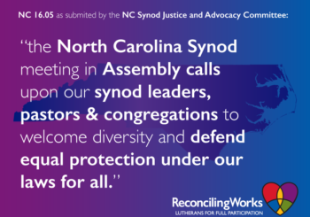 NC Synod Assembly to consider House Bill 2