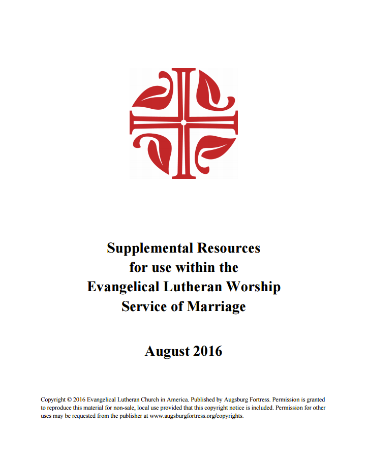 ELCA Develops Supplemental Same-Gender Marriage Resource