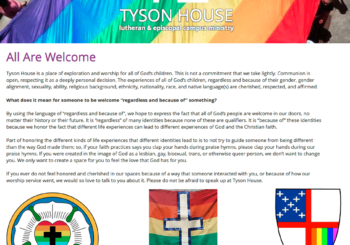 A New Reconciling in Christ Community: Tyson House Lutheran and Episcopal Student Foundation
