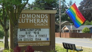 RIC Congregation Welcomes Rainbow Flag Thief to Church